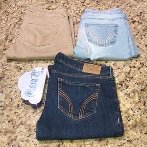 3 Hollister Jeans